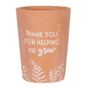 terracotta thank you grow pot