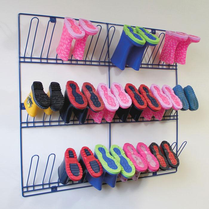 e4e wall mounted wellington boot rack