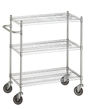 Wire Carts, Chrome Wire Carts