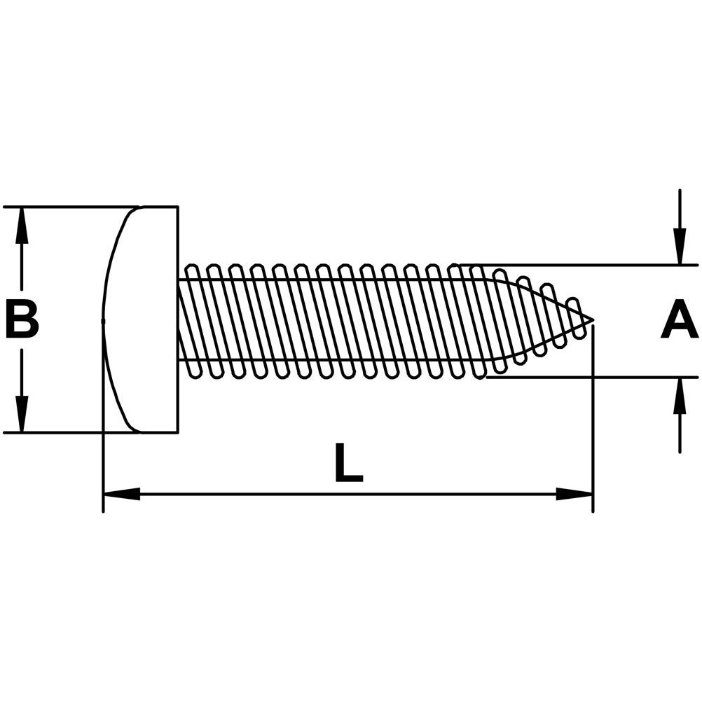 Pan Screws for Cable Railing Deck Toggle