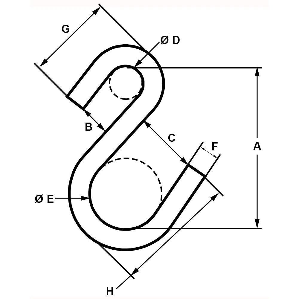 Zinc Plated Type I S-Hooks