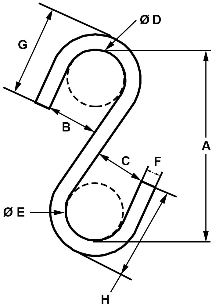 Zinc Plated Type II S-Hooks