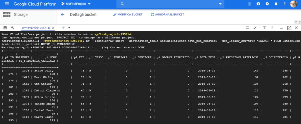 Google Cloud Shell - Riga di comando basata su browser - e-Service