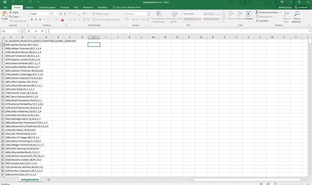Caricare i dati in una tabella BigQuery da file CSV esterno - e-Service