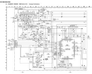 Sony XR1800 Schematic Diagram (Main  Front) in PDF