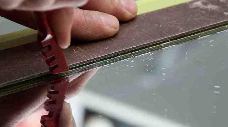 рязане на стъкло