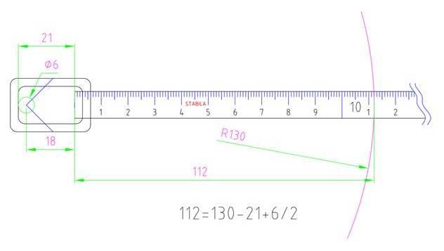измерване с ролетка - със закачане