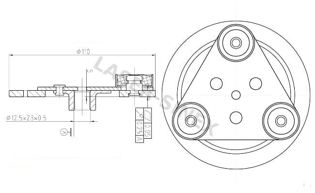 Tarcza sprzęgła sprężarki klimatyzacji MAZDA 6, 626, MX-6