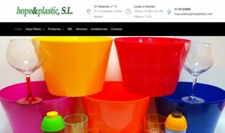 renovación página web de la fábrica Hpe&plastic
