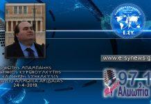 ΦΩΤΗΣ ΜΠΑΜΠΑΝΗΣ ΣΤΟ ΡΑΔΙΟ ΑΛΜΩΠΙΑ 24-4-2019
