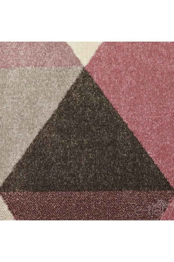 tapis design scandinave rose pastel