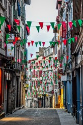While Bayonne might be on the French side of the border, they feel Basque and fly the Basque colours!