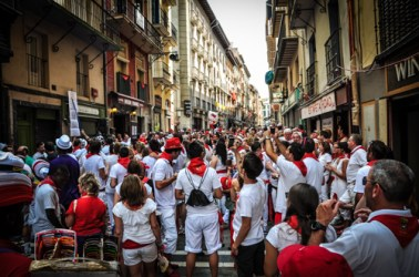 The San Fermin festival in Pamplona, Spain unites Palmploneans, Spaniards and Tourists alike