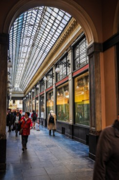 The stylish shopping arcade Galeries Royales Saint-Hubert