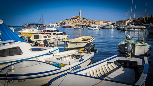 Rovinj with the old town concentrated on a small peninsula