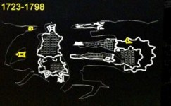 The fortification of Valletta over the years 1723-1798