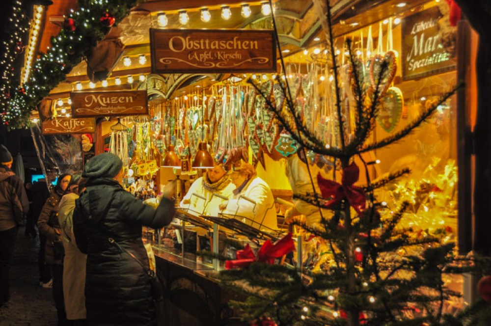 Christmas Market at Rathaus in Lübecl