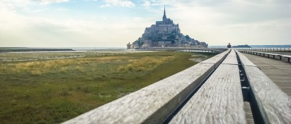 Mont Saint-Michel towers in front of you like an ancient enchantment