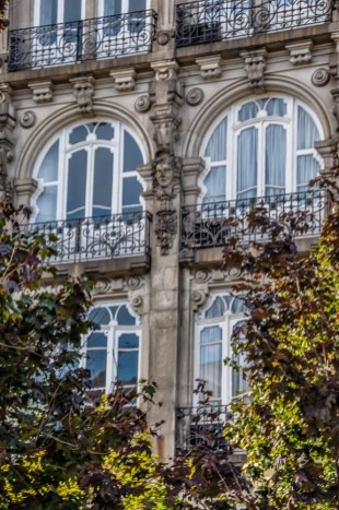 Beautiful Art nouveau details in the windows