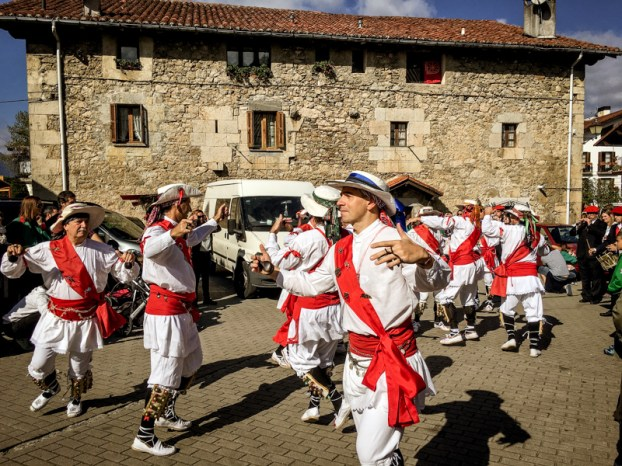 The Basque still preserve their traditional dancing