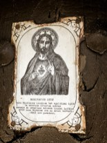 Image of Christ can be found on many houses of the devout. or maybe it's a lesson learned.