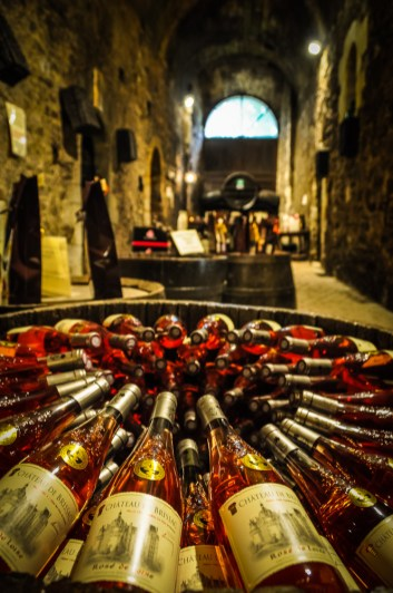 The tour of the castle ends in the cellar, where you can taste and purchase wines from the property