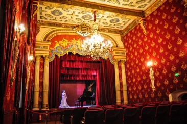 The beautiful Art Nouveau theatre is an intimate yet large hall with 200 seats