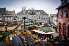 The medieval houses of Goslar provide a fairy-tale backdrop for the cosy Christmas market