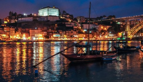 Standing in Vila Nova de Gaia - where all the Port wine cellars are - looking at the old town of Porto