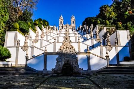 Stairway and church of Bom Jesus do Monte, near Braga