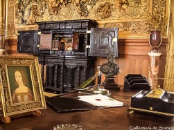 The Ebony cabinet conserved for more than 300 years. Photo courtesy of Château de Serrant