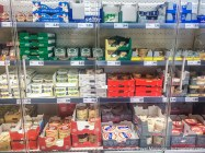 Even the local supermarket has an abundance of cheeses!