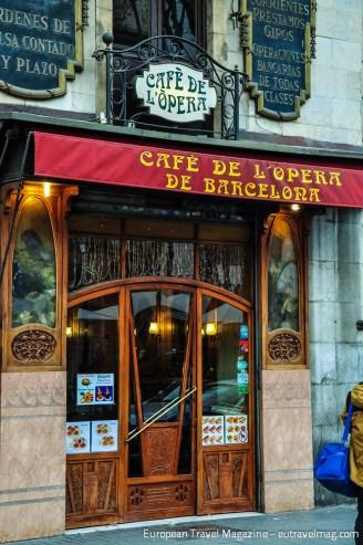 The next Art Nouveau watering hole down the Rambla is Cafè de L'Opera