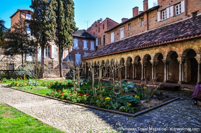 The cloister is a quiet sanctuary at every time of the day