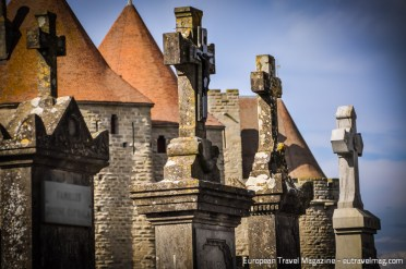 Cemetery outside the walls of Carcassonne is a quiet place to contemplate history