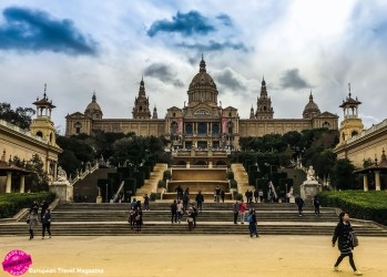 The palatial Palau Nacional that makes up the museum, stands tall and proud on the Montjuïc mountain