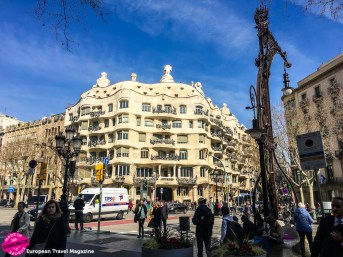 Casa Milà was constructed between 1906 and 1912 and was the last residential building, Gaudí designed