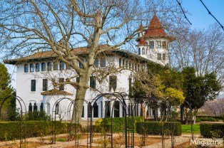 He also designed the owner's white mansion with three distinctive towers, that resembles another of his Barcelonian creations, Casa de les Punxes