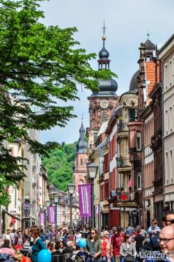 "View from the pedestrianised ""Hauptstrasse"" in ""Altstadt"""