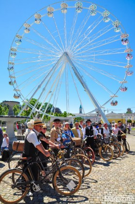 Lots of Vintage Bicycle enthusiasts gathered in Karlsruhe