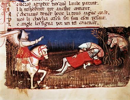 14th Century Manuscript of the Chanson de Roland (Wikimedia Commons)