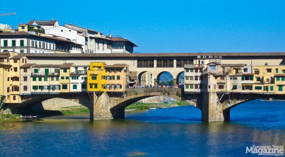 Ponte Vecchio is the most iconic passages into the historic center of Florence, which was declared a UNESCO World Heritage Site in 1982