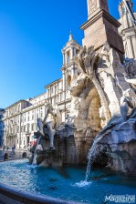 """The Fountain of the Four Rivers"", with an old Egyptian obelisk in the middle, is the work of Bernini"