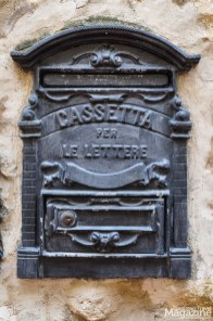 Even the letterboxes are pretty in San Gimignano