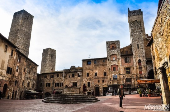 San Gimignano doesn't loose its charm together with declining temperatures