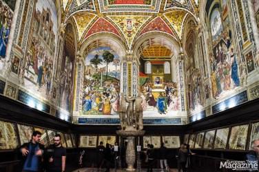 "Todeschini Piccolomini placed the library next to the cathedral, and doing so embodied the Renaissance ideal of an institution that was both a centre of scholarship and an artistic expression of the ""modern era"""