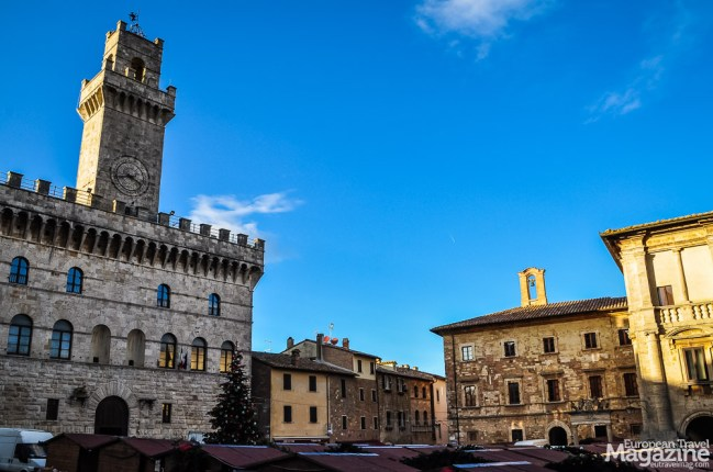 "This typical Tuscan town hall ""Palazzo Comunale"" was designed in the tradition of Palazzo Vecchio in Florence"