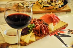 Enjoy their mouth-watering taglieri, a cutting board full of charcuterie and cheese