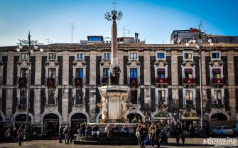 The fountain with a Roman statue of an elephant carved from basalt, is now the symbol of the city