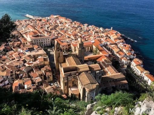Another charming destination is the seaside town of Cefalù. Here seen from the La Rocca - the huge rock next to the town